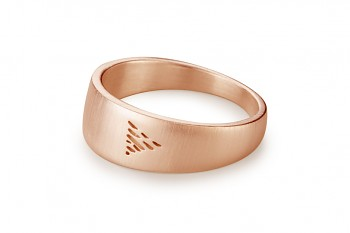 Element WATER - silver rose gold plated ring, matte