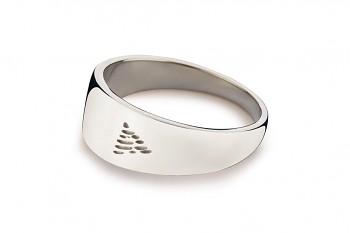 Element OHEŇ - stříbrný prsten, lesk