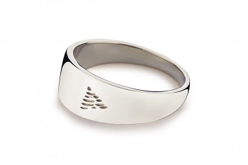 Element FIRE - silver ring, glossy