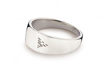 Element WATER - silver ring, glossy