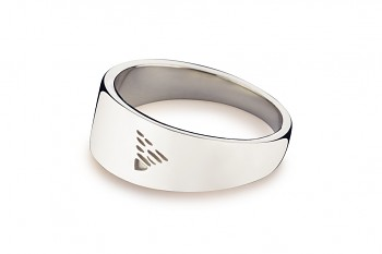 Element EARTH - silver ring, glossy