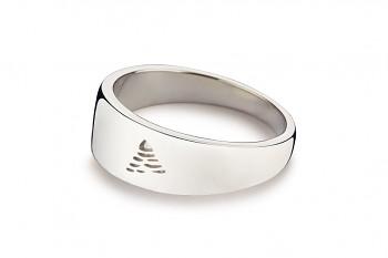 Element VZDUCH - stříbrný prsten, lesk