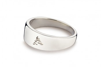 Element AIR - silver ring, glossy