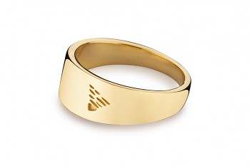 Element EARTH - silver ring gold plated, glossy