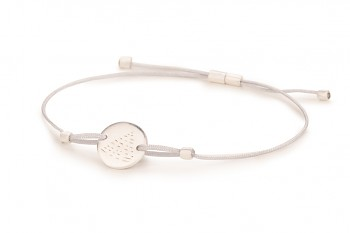 Element FIRE - silver bracelet, matte, silver thread