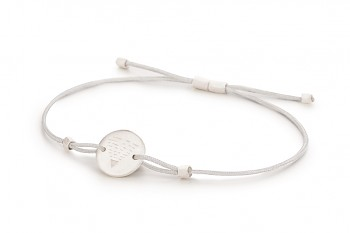 Element EARTH - silver bracelet, matte, silver thread