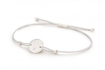 Element EARTH - silver bracelet, matte, silver thread