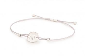 Element AIR - silver bracelet, matte, silver thread