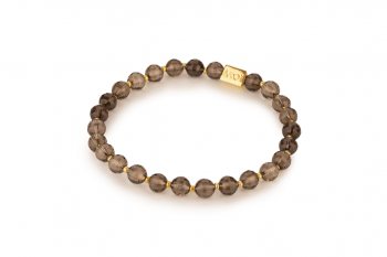 DIWALI - dedicated to the desire for HAPPINESS, smoky quartz and gold platted silver
