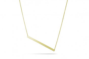 GALAXIA - Silver necklace, gold plated, chain