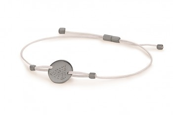 Element FIRE - silver bracelet, matte, silver thread, black rhodium