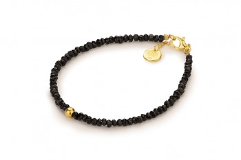 JAWA - dedicated to the desire for BEAUTY, black spinel and gold plated silver
