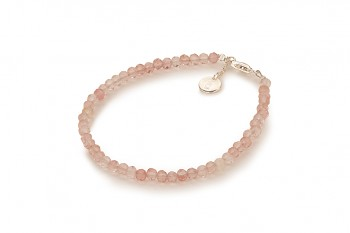 SAKURA - dedicated to the desire for HAPPINESS, cherry quartz and silver
