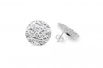 SHAMA - Silver earrings, structure Rudraksha