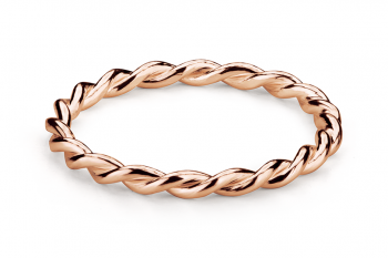 Muselet Ring - Rose gold plated silver