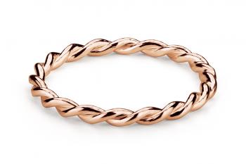 Muselet Ring - Stříbrný prsten pozlacený růžovým zlatem