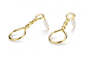 Muselet Earrings - Gold plated silver earrings