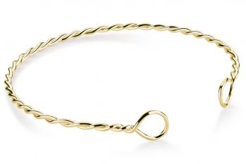 Muselet Bracelet - Gold plated silver bracelet