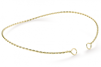 Muselet Necklace - Gold plated silver necklace