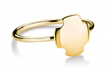 Bouchon Ring - Gold plated silver ring, glossy