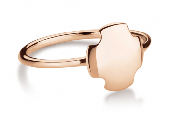 Bouchon Ring - Rose gold plated silver ring, glossy