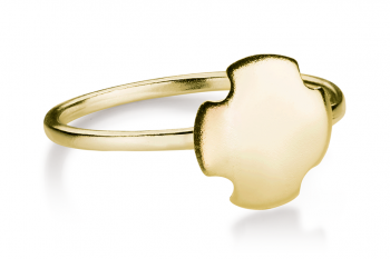 Bouchon Ring - Gold plated silver ring, matte