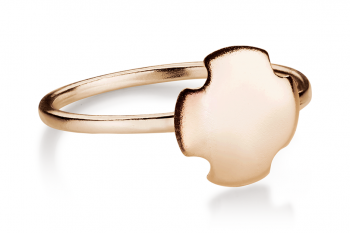 Bouchon Ring - Rose gold plated silver ring, matte