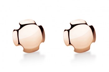 Bouchon Earrings - Rosé, lesk