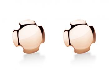 Bouchon Earrings - Rosé, lesk