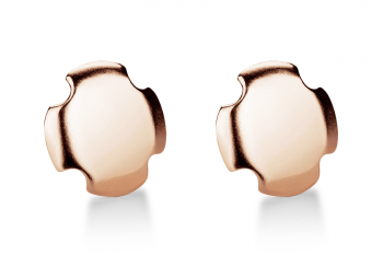 Bouchon Earrings - Rose gold plated silver earrings, matte