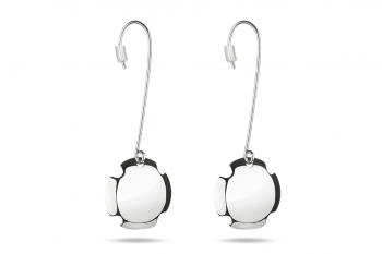 Bouchon Hanging Earrings - Silver earrings, glossy