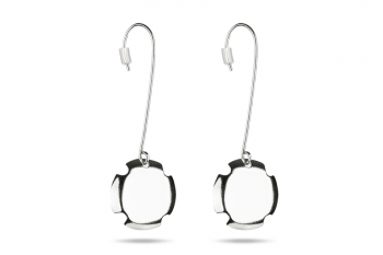 Bouchon Hanging Earrings - Silver earrings, matte