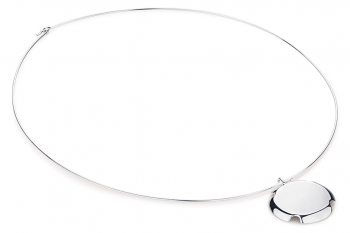 Bouchon Necklace - Silver glossy