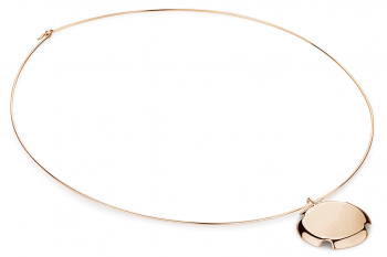 Bouchon Necklace - Rose gold plated silver necklace, glossy
