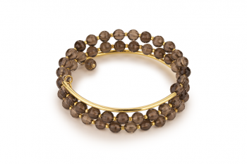 HOLI - dedicated to the desire for HAPPINESS, smoky quartz and gold platted silver