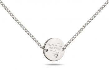 Choker Element ZEMĚ - stříbrný náhrdelník, lesk