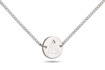 Choker Element VZDUCH - stříbrný náhrdelník, lesk