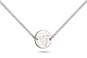 Choker Element VODA - stříbrný náhrdelník, lesk