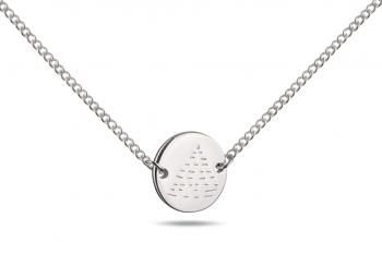 Choker Element OHEŇ - stříbrný náhrdelník, lesk