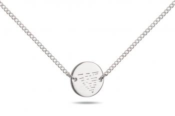 Choker Element VODA - stříbrný náhrdelník, mat