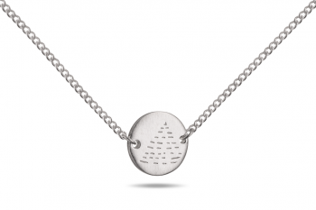 Choker Element OHEŇ - stříbrný náhrdelník, mat