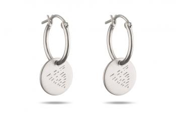 Náušnice Element VODA - stříbrné kroužky, mat