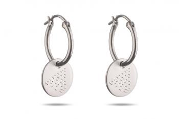 Náušnice Element OHEŇ - stříbrné kroužky, mat