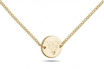 Choker Element ZEMĚ - stříbrný náhrdelník pozlacený, lesk