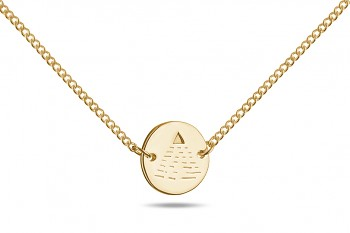 Element AIR Choker - gold plated silver, glossy