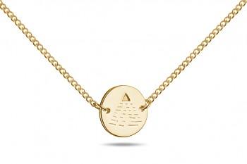 Choker Element VZDUCH - stříbrný náhrdelník pozlacený, lesk