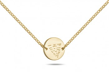 Element WATER Choker - gold plated silver, glossy