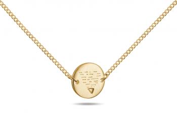 Element EARTH Choker - gold plated silver, matte