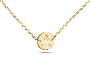 Element AIR Choker - gold plated silver, matte