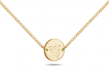Element WATER Choker - gold plated silver, matte